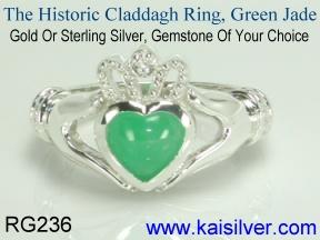 claddagh jade ring popular in japan