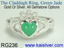 jade claddagh ring