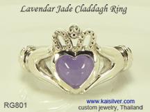 jade heart ring