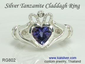 tanzanite silver ring kaisilver