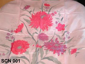 Silk scarf with flower design