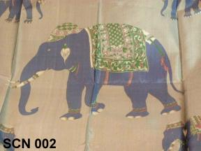 Silk scarves with nature design, animal elephant
