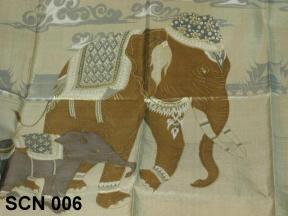 Thai silk scarf patterns, elephant