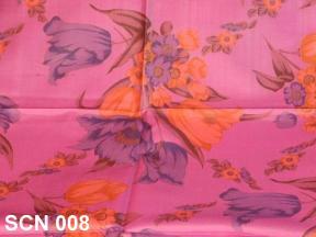 Flower pattern on silk scarf