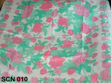 Pretty pink flower fashion silk scarf