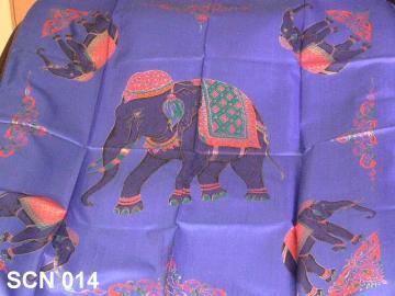 Vivid blue designer scarf
