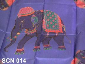 Stunning elephant design silk scarf