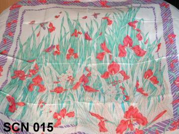 silk neck scarf, flower designs