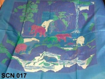 blue neck scarf, nature design