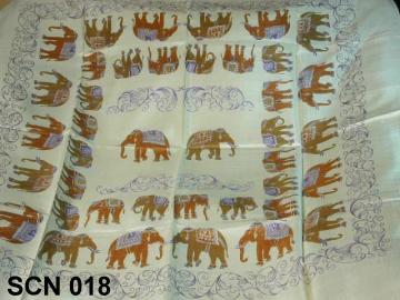 lady scarf animal design