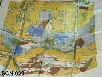 landscape design silk lady scarf