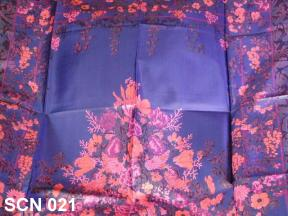 Excellent flower design for this silk designer scarf