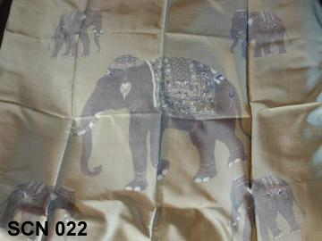 Traditional Thai vintage scarf with elephants