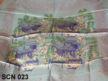 Gorgeous silk scarf from Thailand, vintage pattern