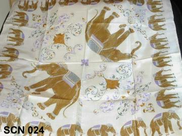 Silk scarf style, animal design