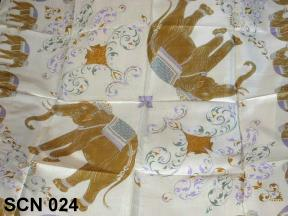 Nature designs for Thai silk scarf styles