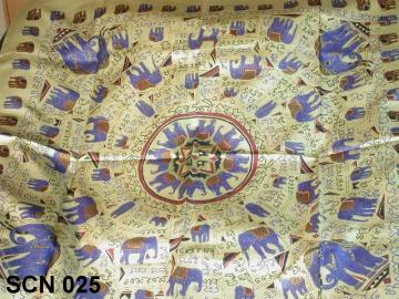 Silk scarf pattern with symmetric design