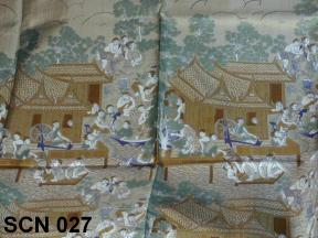 Thai life, design for this Thai silk scarf