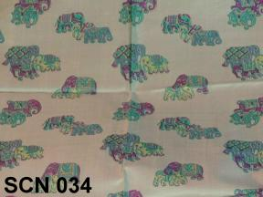 Traditional Thai patterns for this silk scarf from Thailand