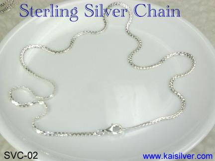 flat silver chains