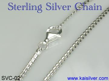 chain pendant, sterling silver