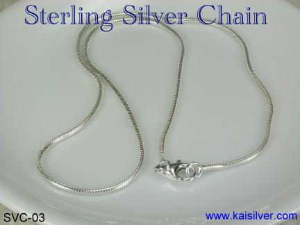 18 inch silver chain