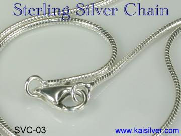 18 silver chain