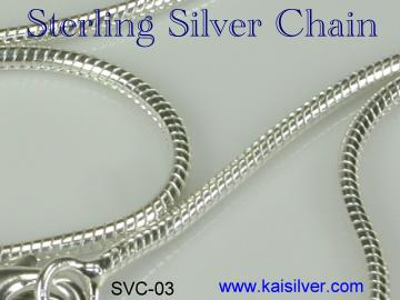 silver chain 18 inch length