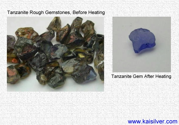tanzanite rough before heating